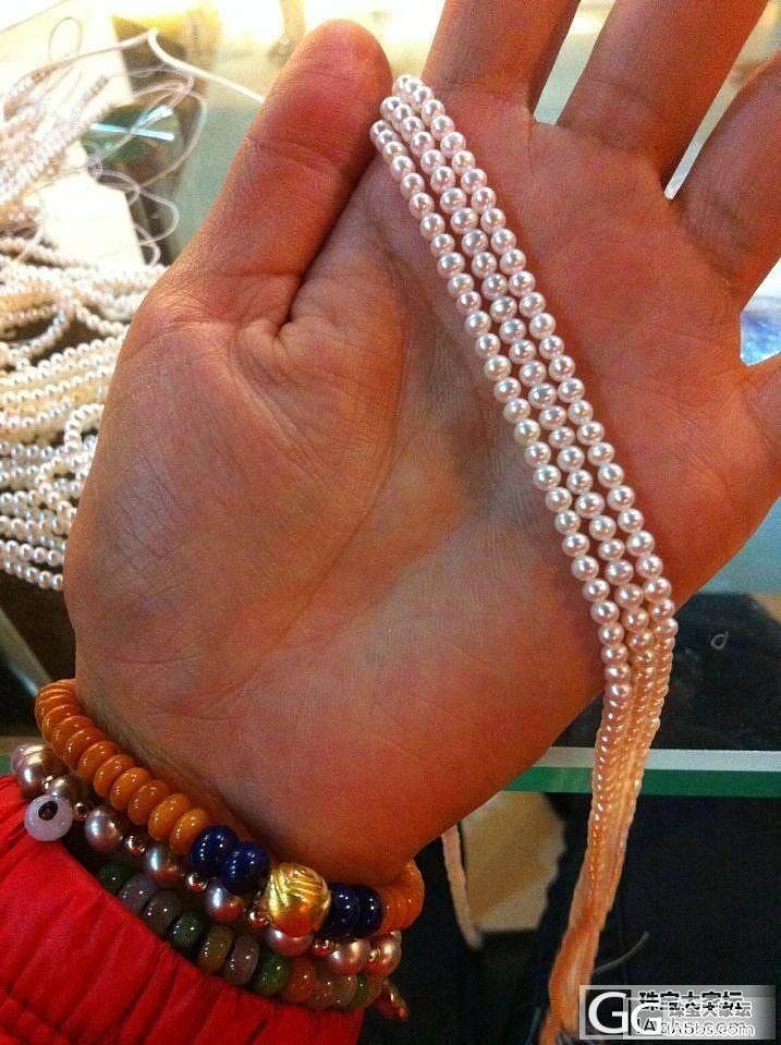 团3MM小珍珠,白亮,圆润,性价比高_有机宝石
