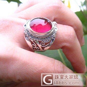 分享一个我头像显示的戒指~嘻嘻个人蛮喜欢的~大家评价评价哦~_戒指银