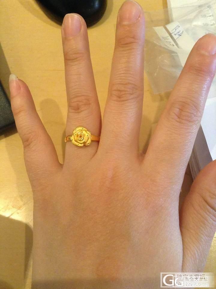 周大福的甜蜜心花,新增3个张良牌戒指_吊坠戒指金