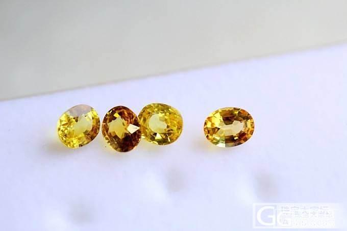 性价比很高的黄色蓝宝石戒面 4颗 可统走_宝石