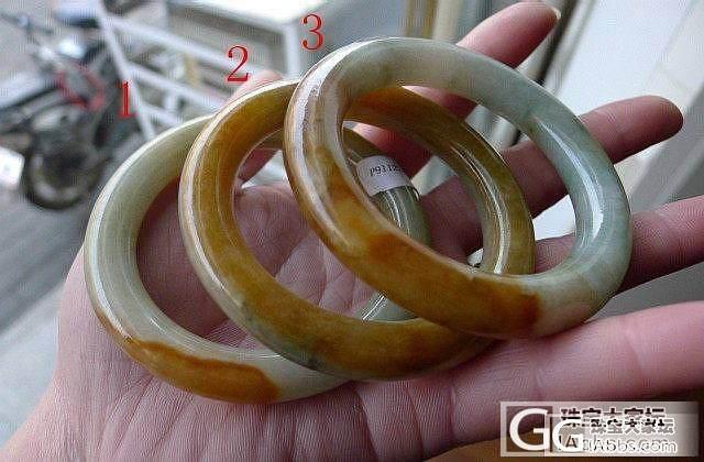 【玉玲珑】~2.20上新翡翠A货黄翡经典胖圆条手镯3条~