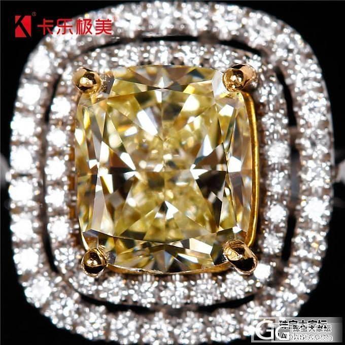 1.75ct黄钻戒指、吊坠两用一枚,浅黄色_钻石