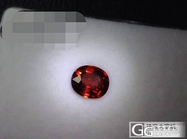 红艳的锰铝榴石_石榴石刻面宝石