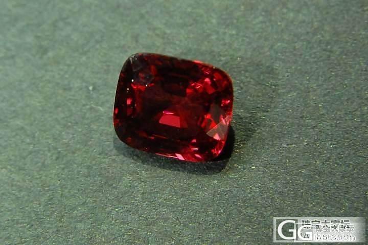 微距 去年买的一颗缅甸红尖晶,_尖晶石刻面宝石