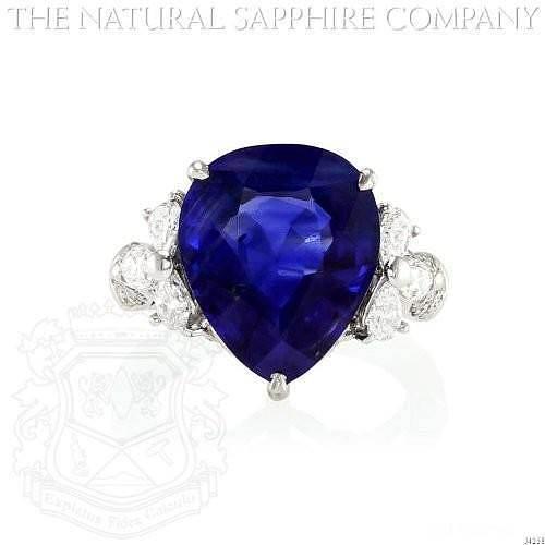 求助:如何低费用地复刻这枚梨形蓝宝石戒指_蓝宝石