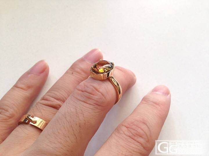 【P.Z 珠宝】 18K黄金戒托 天然巴西黄碧玺戒指 火彩极佳 4.56克拉_宝石