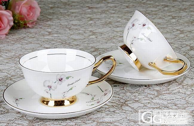 欧式金珀骨瓷咖啡杯_珠宝