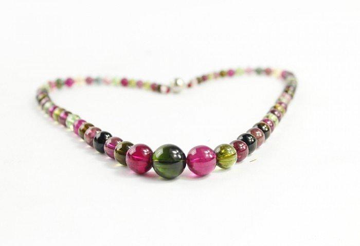 有个朋友想买的,糖果色碧玺项链,因为..._宝石
