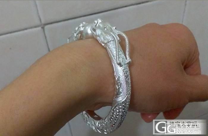 求围观,我的双龙戏珠_手镯银