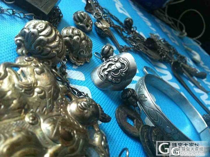 最近28 太懒了 秀最近兴昌大仙的超美重器 老银以前买的 阿姐缠枝 海量图_老银手镯传统银饰银元银