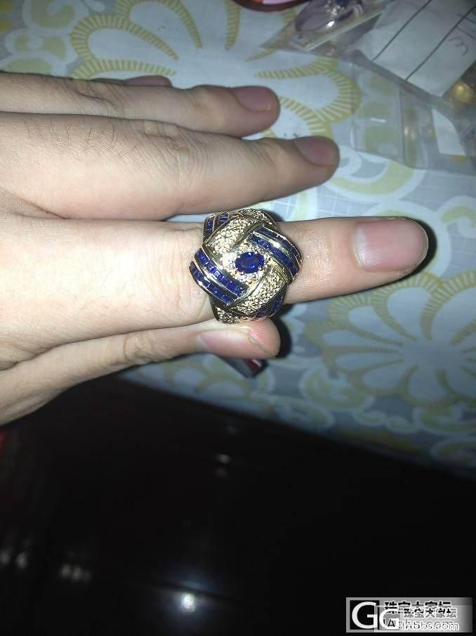 停厚实的蓝宝戒指_宝石