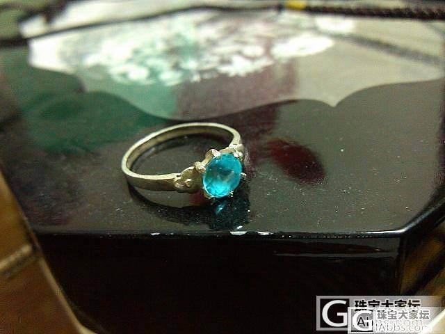 银镶蓝托帕戒指_宝石