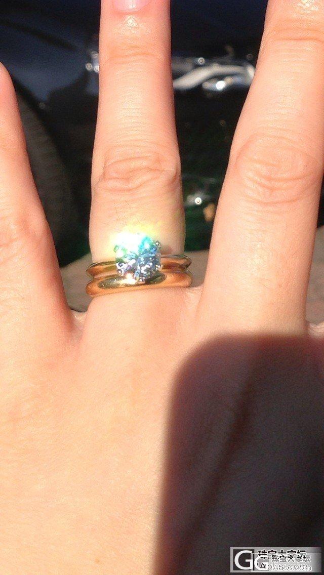 终于拿到了,有点小失望,2卡拉的戒托..._钻石