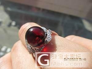 琥珀戒指_有机宝石