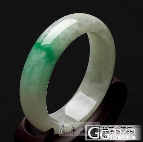 精美高绿手镯 非常漂亮  通透起荧光..._翡翠