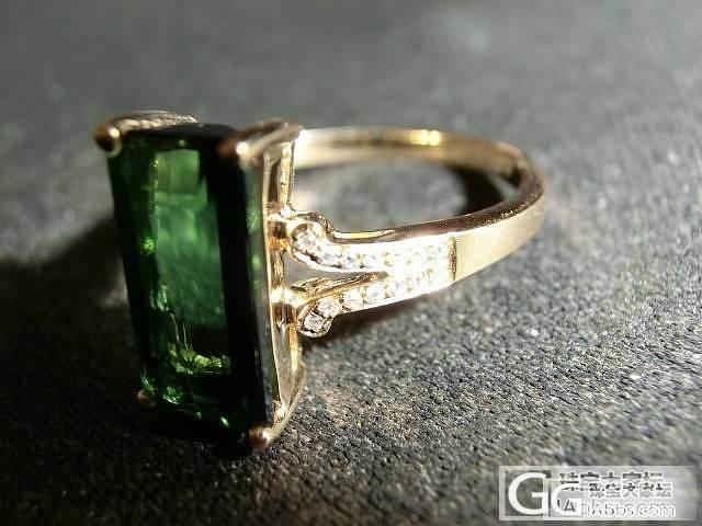一直想要碧玺,先入了一只绿碧戒指(多..._碧玺刻面宝石