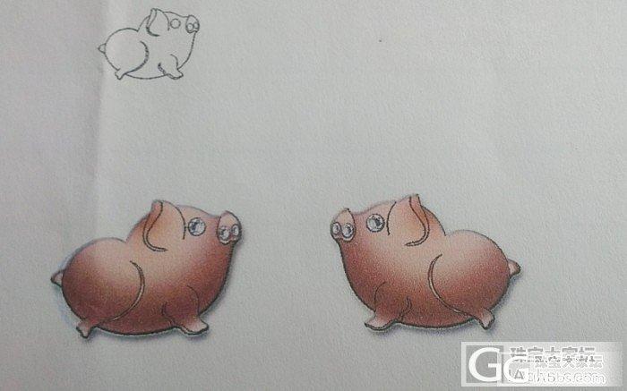 晒设计产品啦-富贵可爱猪_金