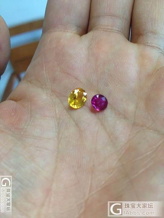 登对的小红和小黄_刻面宝石蓝宝石红宝石