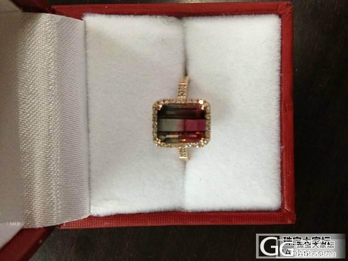 2013第一个小西瓜碧戒指_碧玺刻面宝石