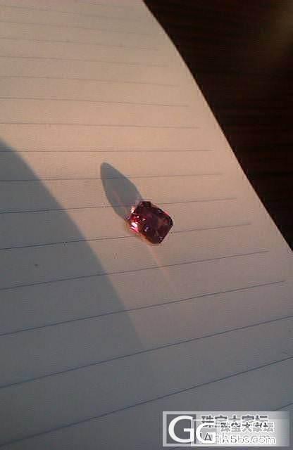 我还收了一颗小紫~木哈哈_尖晶石刻面宝石