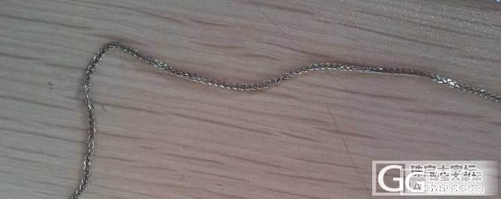 转一条Au750(45cm)潮宏基,一条G750(43cm)_珠宝