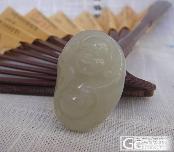 和田青白玉籽料佛_传统玉石