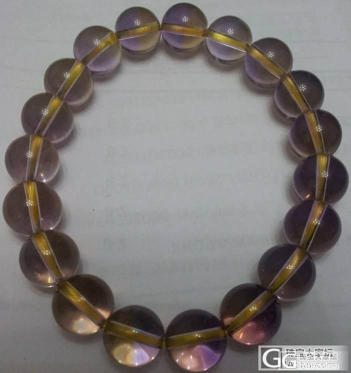 新入手紫黄晶,求鉴别,谢谢各位了_水晶
