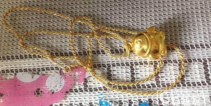今天中午中国黄金收来的小光面qq,还..._吊坠金