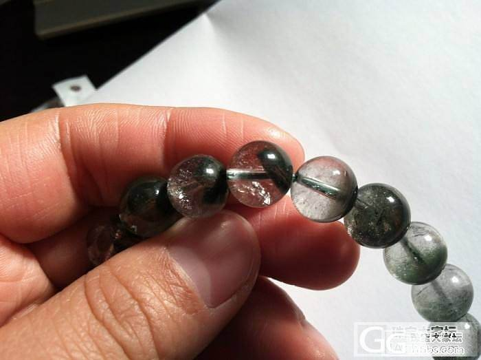 坛友要转给我的一串绿幽灵的手链,大家..._幽灵晶