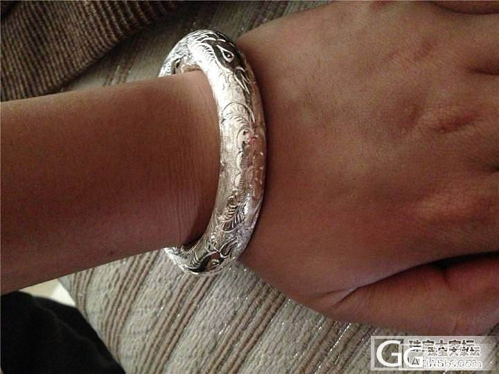 终于来锈我的凤朝牡丹和珍珠链了_手镯手链银