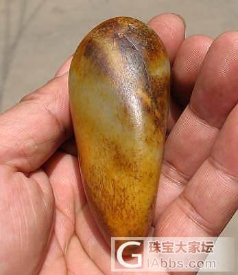 121克 金包银 原石_传统玉石