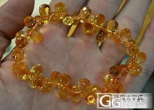极品黄水晶圆珠 手链 开团啦~~_宝石
