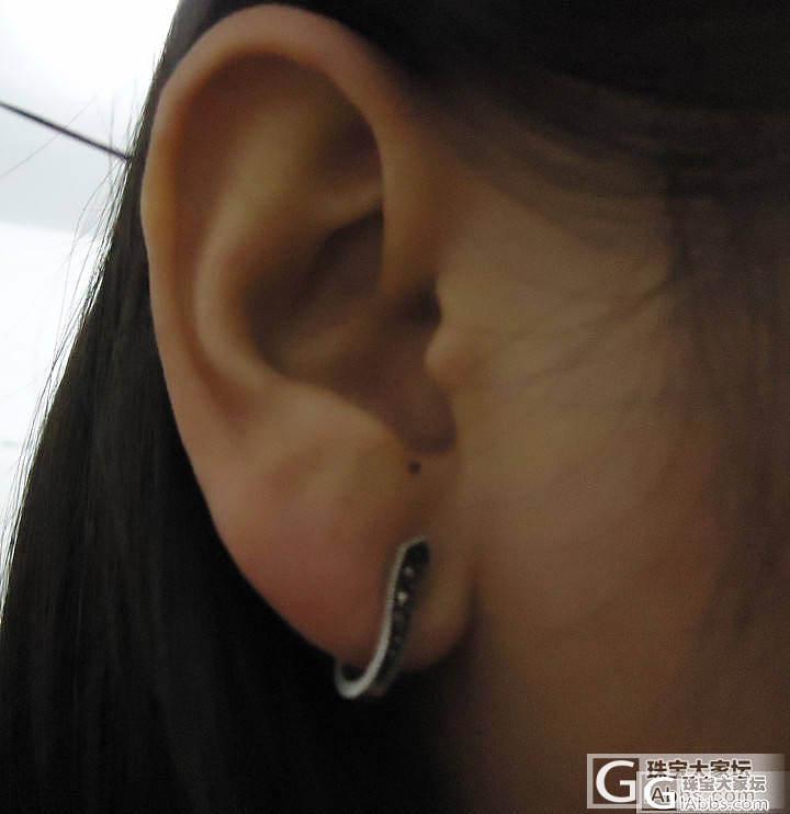 大家帮我看看这对耳钉适不适合我_耳钉银