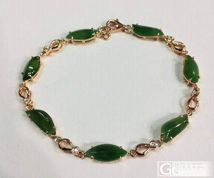 【个人出售】18K金镶钻满绿手链—极..._翡翠