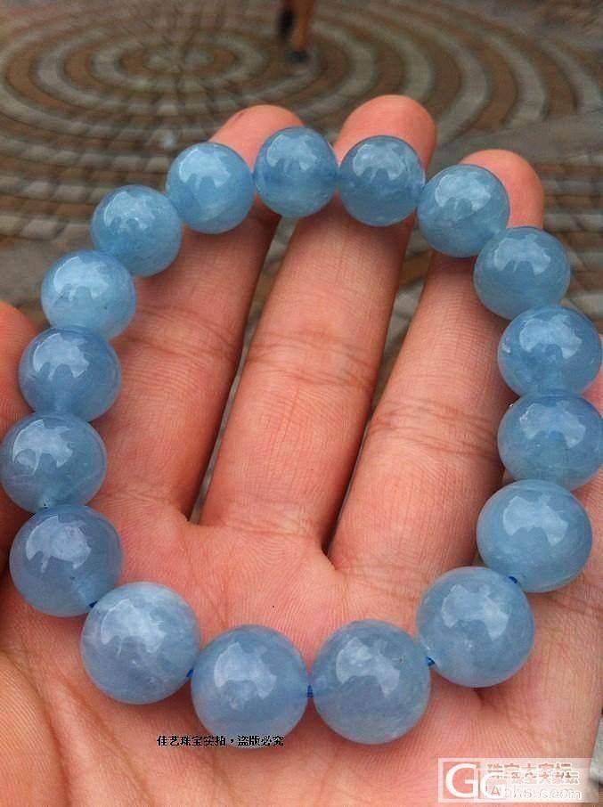 12mm【海蓝宝】手链,【批发价31..._宝石