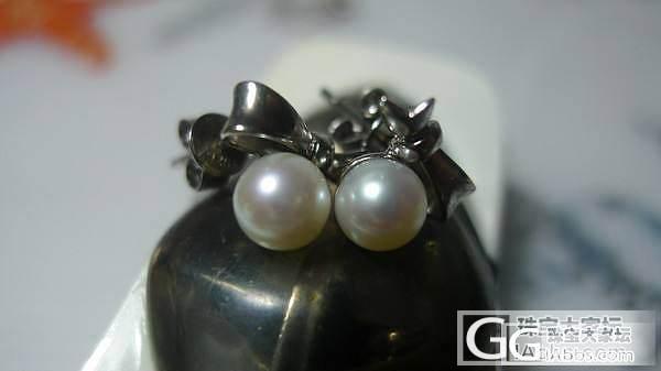 无聊啊,发个十年前买的珍珠耳钉_耳钉珍珠