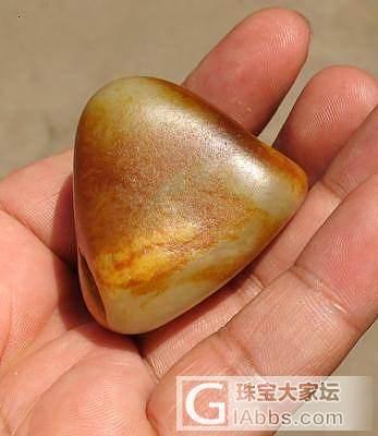 80.6克 天然的山子 黄沁原石_传统玉石