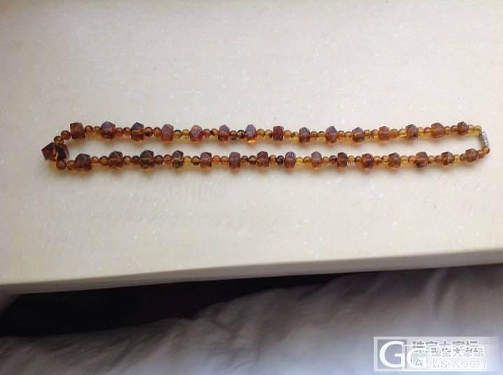 难得的抚顺琥珀项链(八大锤)老工艺,老库存^_^几年前在抚顺朋友处购买,明价2300_宝石