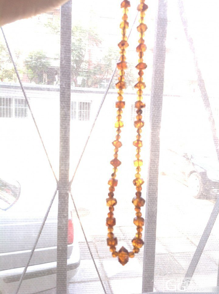 难得的抚顺琥珀项链(八大锤)老工艺,老库存^_^_有机宝石