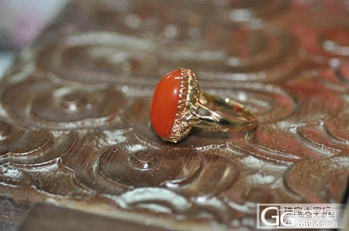 京华雨巷-无钻经典蝴蝶包镶南红玛瑙戒..._镶嵌珠宝