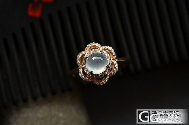两款漂亮花瓣造型的戒指_翡翠