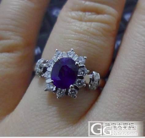 1克拉蓝宝石戒指,大家帮看看品质_蓝宝石