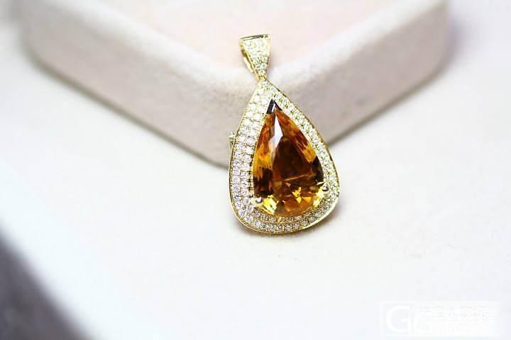 淘宝顾客定做的两件双用宝石戒指吊坠_宝石