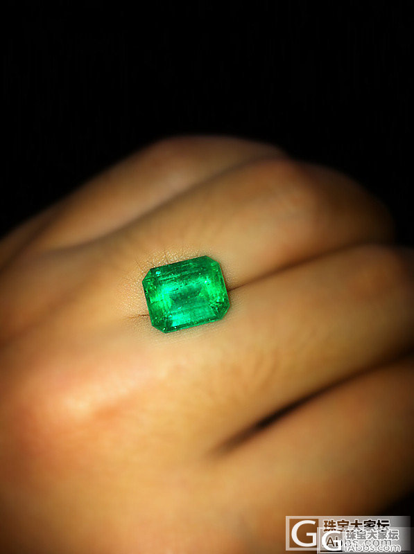 4.88的祖母绿 色阶7 净度7 个..._刻面宝石祖母绿