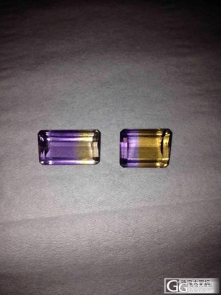 紫黄晶 全净 好彩戒面_宝石