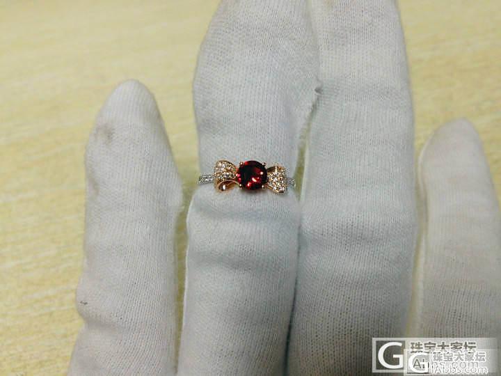 京华雨巷,西洋领带结款,18K金红白分色镶钻红尖晶石戒指!好可爱_宝石