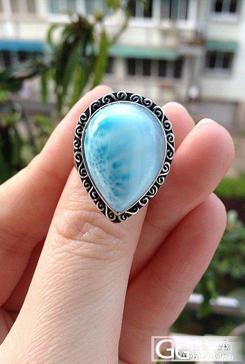 刚镶嵌好的海纹复古戒指  来秀一秀_海纹石