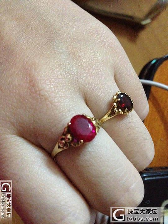 老妈那儿搜刮来的两个戒指_碧玺刻面宝石