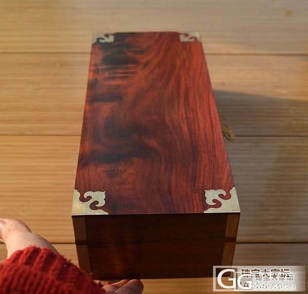 精美红酸枝独板大首饰盒 有火焰纹60..._文玩