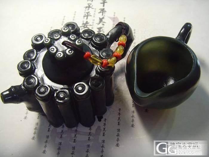 碧玉茶具套件_传统玉石